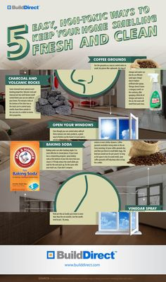 5 Non-Toxic Cleaners Your Home: An Infographic