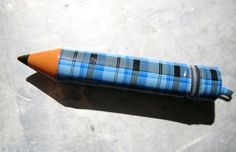 Remember these vinyl pencil cases from the 70's? Ours were striped Red & white or Blue & white