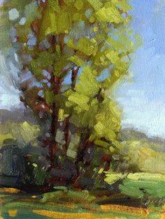"Daily Paintworks - ""Afternoon Highlights"" - Original Fine Art for Sale - © Laurel Daniel"