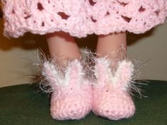 free pattern for doll Bunny Slippers