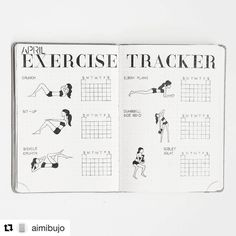 #Repost @aimibujo #bulletjournal ・・・ EXERCISE TRACKER • I have never done any kind of exercise in my entire whole life but I\'ve been doing a few simple exercises for the last two months (on and off) and actually enjoy it. My goal is to exercise at least three times a week. I was kind of reluctant to post this photo because I\'ve been slacking off a bit this month. Questions: Do you have any tips on how to stay motivated? Also how do you track your fitness/workout in your Bullet Journal?
