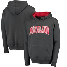 Maryland Terrapins Colosseum Arch Pullover Hoodie - Charcoal