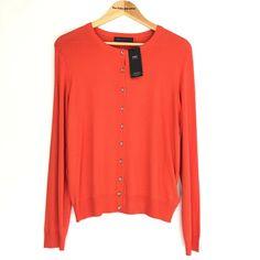 M&S Bright Orange Lightweight Cardigan UK Size 16 #MarksandSpencer #Cardigan #AnyOccasion Uk Size 16, Lightweight Cardigan, Knits, Online Price, Orange, Sweaters, Ebay, Fashion, Moda