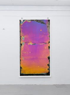 """Fabian Oefner`s new work, """"Photographic Paintings"""""""" moves within the realms of painting and photography. As in previous works like """"Disintegrating"""" or """"Paint in Motion"""" the artist explores the possibilities and limits of photography.  When looking at the prints from a distance, one could define the works as paintings. The compositions distantly resemble Mark Rothko's nebulous rectangles or Clifford Still's large, monochromatic fields of color. Delicate gradients seem to have been painted…"""