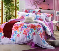 Aliexpress.com : Buy Duplex Tencel Reactive Dyed Satin jacquard 4pcs bedding sets embroidered bed sheet,quilt cover,pillowcase bedspread bedclothes from Reliable jacquard suppliers on Kaifei Home Textile $120.00
