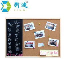 XINDI New 30*40cm Blackboard Cork Board Combination 1:3 Wooden Frame Drawing Message Board Home Photos Write Notes Chalkboard #Affiliate