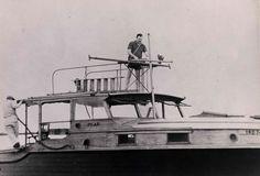 Ernest Hemingway on his boat Pilar. Ida Woodward Barron Collection.