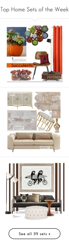 """Top Home Sets of the Week"" by polyvore ❤ liked on Polyvore featuring interior, interiors, interior design, home, home decor, interior decorating, Sun Zero, John-Richard, Design Within Reach and Pillow Decor"