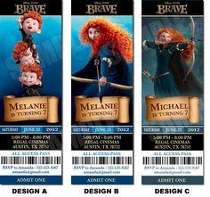Disney Brave Inspired Invitation Printable - Printable Birthday Party Invitation - Merida. $10.00, via Etsy.