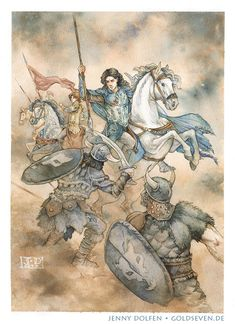 For Maglor slew Uldor the Accursed - signed giclée print O Silmarillion, Young Fox, Jrr Tolkien, Middle Earth, Lord Of The Rings, Lotr, The Hobbit, Watercolor Paper, Art Inspo