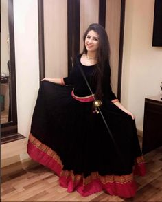 Last night at Satna ❤️ In black dress u r looking like a bombRayon Kurti With Banarsi Border Kurti For Womenthe metal neckpiece goes well with itImage may contain: 1 person Long Gown Dress, Sari Dress, Anarkali Dress, Dress Up, Lehenga, Long Gowns, Anarkali Suits, Dress Casual, Sarees