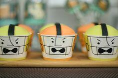 football player cupcakes