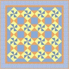 Playful Pinwheel Free Quilt Pattern