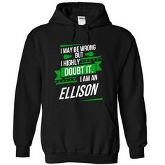 ELLISON-the-awesome - #gift ideas #funny gift. BUY-TODAY => https://www.sunfrog.com/LifeStyle/ELLISON-the-awesome-Black-75216246-Hoodie.html?68278