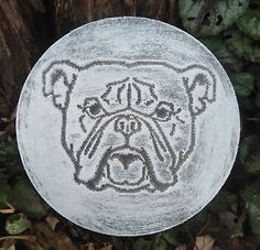 Dog plaque plastic mold for plaster concrete mould