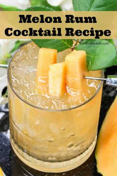 Looking for one of the best rum drinks out there? Well then try this fabulous Melon Rum Cocktail! It is perfect for sipping on a lazy afternoon, when friends gather for a night together, or as a different and unique party drink. Try this delicious rum melon drink today!