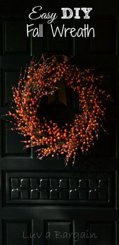 Wanting To Decorate For The Fall Season? Make This Beautiful And Easy DIY  Fall Wreath In 15 Minutes. Pictures