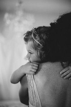 Mother-daughter maternity photos