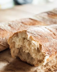 Four ingredients, no experience required for most amazing and beautiful bread you've ever made. You will be delighted by how truly easy it is to make this heavenly chewy, crispy crust, no-knead french bread. No Yeast Bread, No Knead Bread, Bread Baking, Artisan French Bread Recipe, Artisan Bread Recipes, Rock Crock Recipes, Cooking Recipes, Sicilian Recipes, Sicilian Food