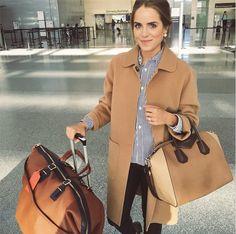 Coat + Givenchy bag