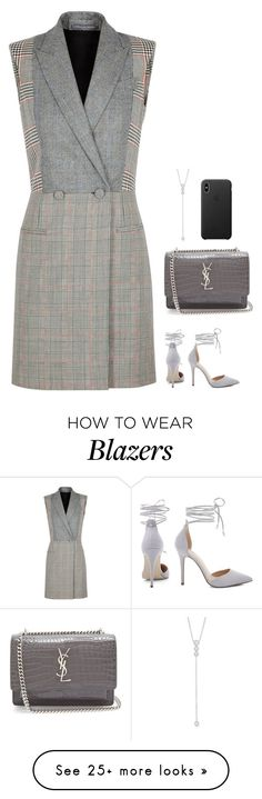 """#7489"" by azaliyan on Polyvore featuring Alexander McQueen, Yves Saint Laurent and Anne Sisteron"