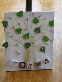 Gezien bij mijn buurvrouw. Een wensboom voor, in dit geval een doop, maar voor vele festiviteiten bruikbaar! Allemaal een wensje op een hartje/blaadje schrijven, dubbelvouwen en tussen knijpertje plaatsen. Boom geschilderd op canvasdoek.