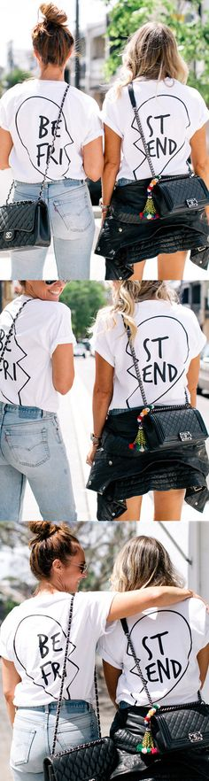 Go twinning around town with your BFF. #womensfashion
