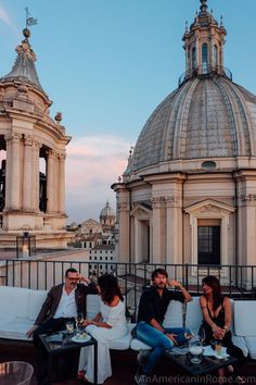 Rome rooftop bar at Eitch Borromini Hotel, Piazza Navona, by reservation only. Every day, from 6.30 pm - only with reservation at +39 06 68215459.- enjoy delicious high-quality aperitifs and small gourmet tastes.