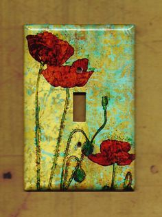 Poppy switch plate cover.