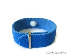 Insomnia Relief H7 Acupressure Bracelet for Sleeplessness, Anxiety, Nervousness, Palpitations (one bracelet) Blue