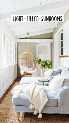 Small Sunroom, Sunroom Decorating, Decorating Ideas, Decor Ideas, Sunroom Ideas, Interior Decorating, Beach House Decor, Home Decor, Beach Houses