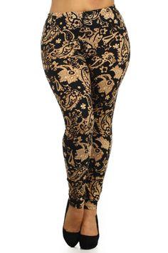 Baroque Again Design Plus Size Leggings – Niobe Clothing