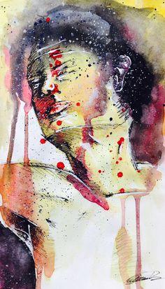 """Pur."" Watercolor Artiste: Jimi Crainic"
