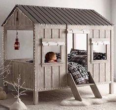 Des idées et des inspirations pour réaliser un lit-cabane dans la chambre de son… Plus