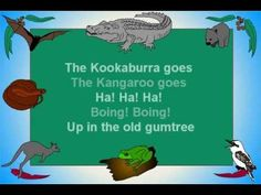 "Kids song about Australian bush animals. By Bob Brown co writer and original singer of the famous Australian song ""Give Me a Home Among the Gumtrees. Australia School, Australia For Kids, Australia Animals, Music Activities, Activities For Kids, Preschool Music, Around The World Theme, World Thinking Day, Australia"