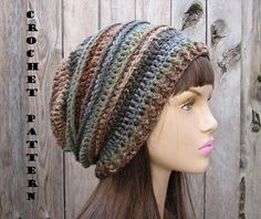 CROCHET PATTERN - Slouchy Hat, Crochet Pattern PDF,Easy,Pattern No. 30 | EvasStudio - Craft Supplies on ArtFire