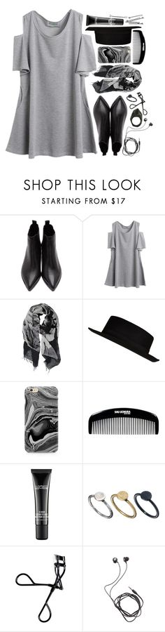 """""""graphite"""" by m-arian ❤ liked on Polyvore featuring Acne Studios, Contileoni, River Island, Samsung, shu uemura, MAC Cosmetics, Just Acces, Bobbi Brown Cosmetics, Diane Von Furstenberg and Lady Grey"""