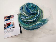 Nuno felting Scarf Kit,  Color: Salvia
