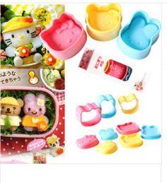 WHOLESALE bread sushi rice mould sandwich cake Kitty BEAR RABBIT CAT DIY kawaii gift funny kid food gift 10 sets/lot