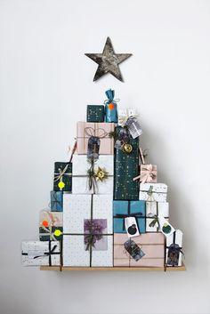 Christmas tree gift wrap.