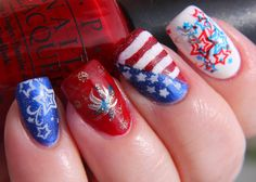 Finger Lickin' Good Fourth of July Nail Art