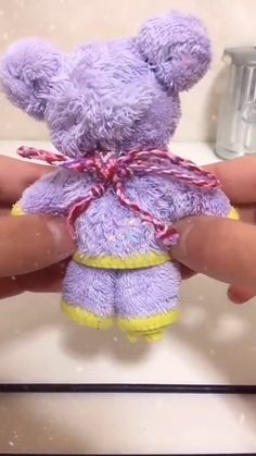 How to TOWEL TEDDY BEAR CUTE Tutorial! This craft can make your child happy! Whatever we will do for the happiness of a child, including to provide a toy that is useful for him. Diy Crafts Hacks, Diy Crafts For Gifts, Diy Home Crafts, Easy Diy Crafts, Diy Arts And Crafts, Cute Crafts, Creative Crafts, Crafts For Kids, Recycled Crafts