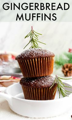 Gingerbread muffins are the perfect Christmas morning breakfast treat. Classic Southern gingerbread scaled down to make just 6 muffins. Christmas Muffins Recipe, Gingerbread Muffins Recipe, Gingerbread Cake, Christmas Gingerbread, Small Christmas Cake Recipe, Christmas Christmas, Christmas Ideas, Köstliche Desserts, Delicious Desserts