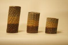 Set of 3 rasta color extruded pieces
