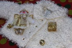 WHOA...Baby Ugly Christmas Sweater with Gold Angels and by ElvesGoneWild