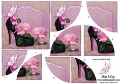 Roses and Butterflys Shoe Curved Spiral Stacker