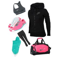 women's nike workout outfits | ... NIKE, NIKE sports bras and NIKE leggings. Browse and shop related