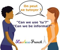 """In more informal situations, people may shift from using """"vous"""" to """"tu"""" organically, but you can never go wrong with asking this question before doing it yourself. #french #learnfrench #lawlessfrench #frenchquiz French Expressions, Idiomatic Expressions, French People, Teacher Boards, French Teacher, French Language, Learn French, Vocabulary, Things To Think About"""