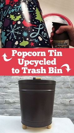 What a SUPER cool upcycle for those large popcorn tins that usually end up in the trash!!  Definitly one to try!!