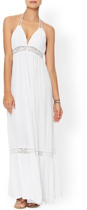 Lace Insert Beach Maxi Dress